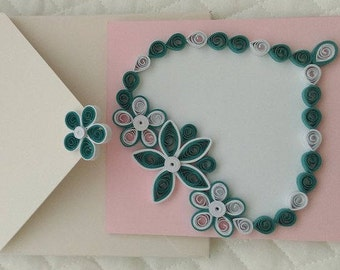Love Heart Quilling Card
