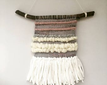 Handmade woven wall hanging piece/weaving/wall art/textiles