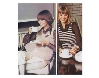 Knit Tank - Bulky & Fast - Striped vest pullover
