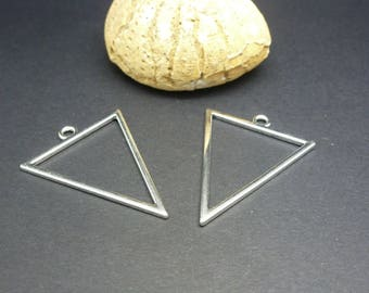 2 charms geometric Triangle 35 * 27mm (8SBA71)