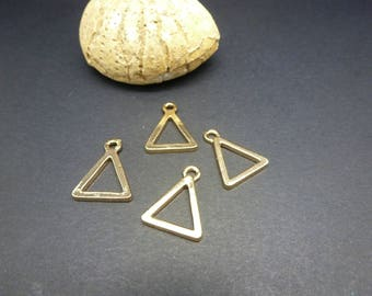 4 charms geometric Triangle 17 * 13mm, gold (8SBD54)