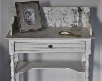 SOLD: Dressing Table / dressing table, patina, on marble Misty