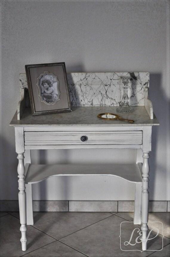 r serv table de toilette coiffeuse patin e dessus marbre. Black Bedroom Furniture Sets. Home Design Ideas
