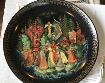 Vintage Russian Folklore Plate