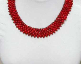 Red Jeriquiti seed Necklace