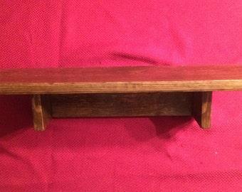 Handmade Solid Wood Shelf