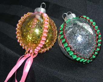chainmaille tree ornaments