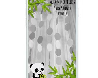 Panda Filter, Panda Baby Shower Filter, Snapchat Filter, Baby Shower Filter