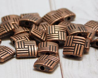 10 or 20pcs - 8mm - Copper Metal Beads - Antique Copper Beads - Spacer Beads - Pewter Beads - Metal Findings - (B212)