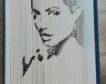 Folded book cut Angelina Jolie