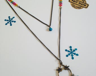 Necklace with multicolored sequins
