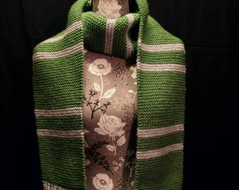 Slytherin House Scarf - Green & Silver