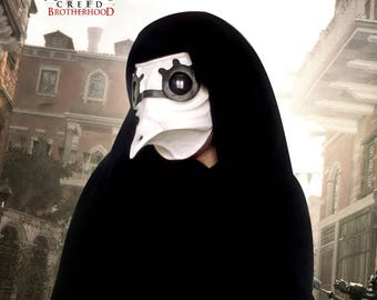 Replicas: Mask - Malfatto doctor - Assassin's creed Brotherwood plague doctor - mask in papier mache