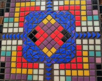 Mosaic Art Trivet, mosaic art, abstract geometric, wall hanging