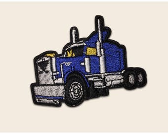 Lorry patch - car patch, truck patch, blue patch, iron on patch, embroidered patch cartoon, sew on patch, cartoon patch, patch for shirt
