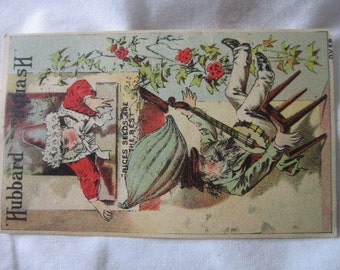 C 1885 Antique Hubbard Squash Seeds Victorian Trade Card