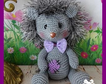 Hedgehog, Amigurumi crochet plush