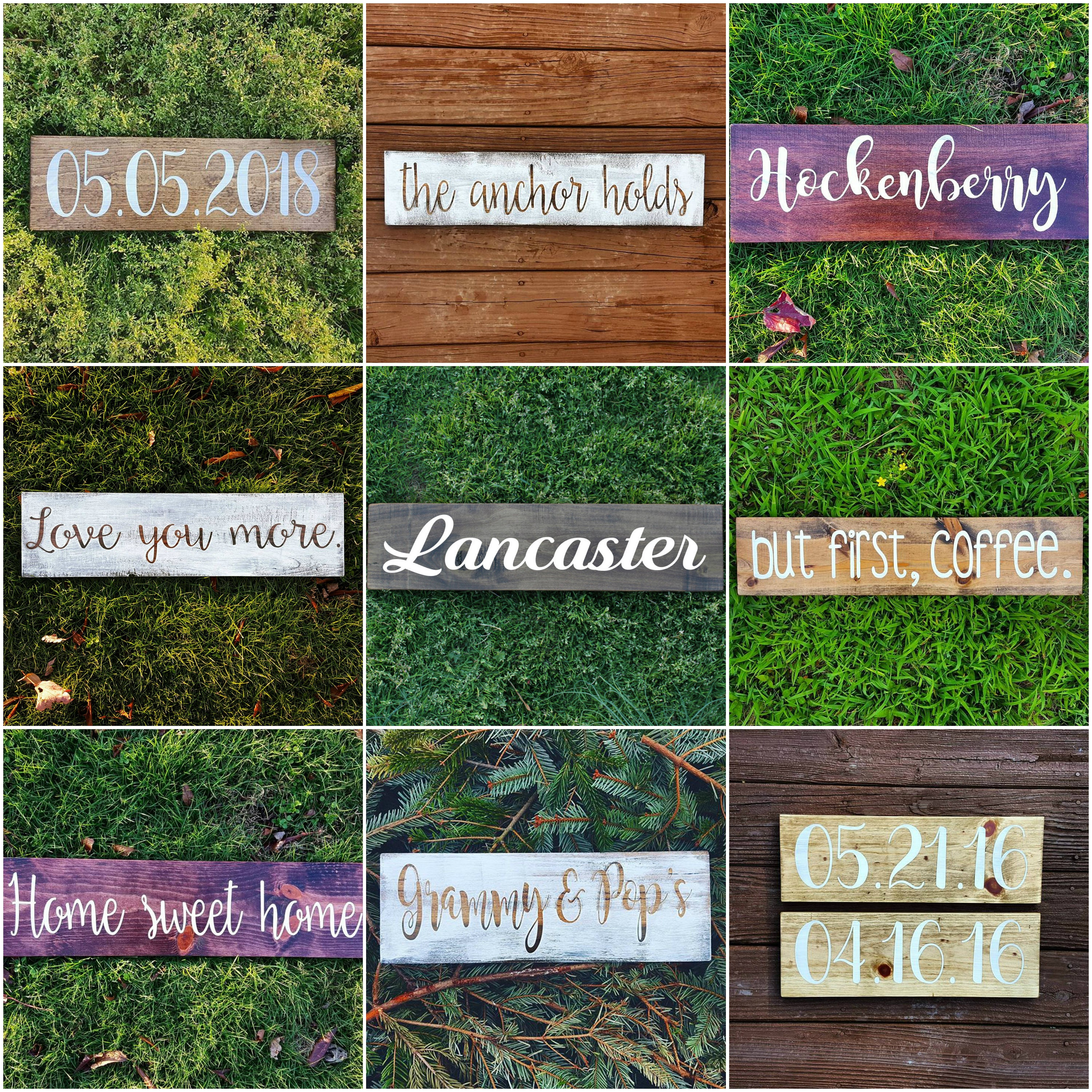Design Your Own Sign Custom Signs Custom Wood Signs