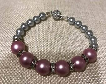 Pink n Silver Pearls