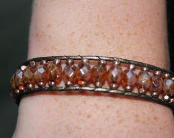 Leather Bracelet 7.25 inches long