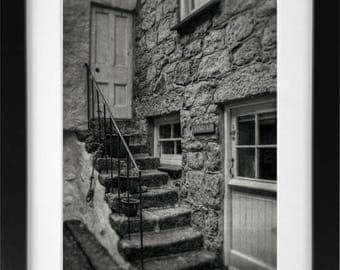 Old Staircase, St Ives, Cornwall. A3 Print, Digital Photography, Unframed