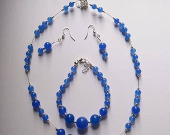 Blue Jade Jewellery Set