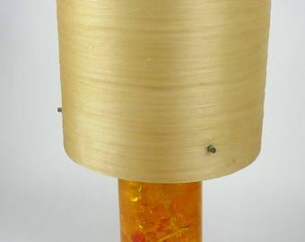 Shatterline Orange table lamp with cream fiberglass shade