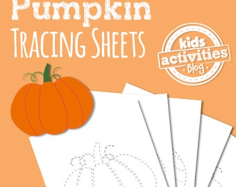 Pumpkin Tracing Sheets - Preschool Printable Worksheets for Halloween