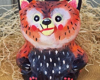 Red Panda, Hand Cast Resin