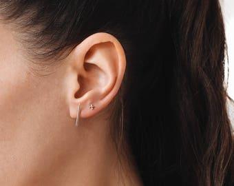 Bar Earrings, Bar Stud Earrings, Dainty Stud Earrings,, Everyday earrings, Minimalist Jewelry, E075