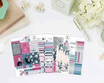 25% OFF SALE (no coupon needed) - Enchanted Mini Kit - Vertical Planner Stickers (Weekly Sticker Kit) - For Use With Erin Condren LP