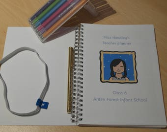 Personalised teacher planner, diary. Dated 2017-2018