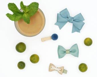Hair Clip Set- Mint Latte