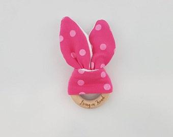 Bunny Ear Teether Hot Pink / Pink