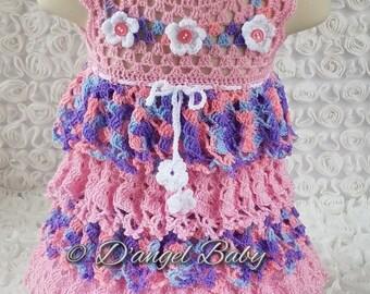Ruffles Crochet dress