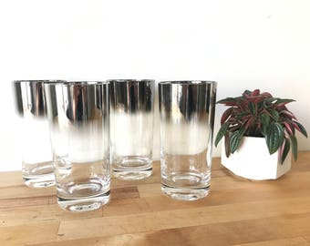 Dorothy Thorpe Mercury Fade Drinking Glass Set of 4