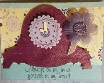 Handmade greeting card-Spirelli accents- Friendship greeting cards