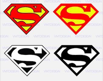 Superman logo svg - Superman clipart - Superman logo digital clipart for Design or more, files download svg, png, pdf, eps, jpg