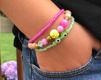 Rapunzel, Pascal - Disney jewelry bracelet Tangled pink purple yellow green gold princess, costume