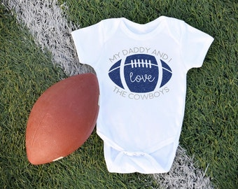 Dallas cowboy onesie etsy dallas cowboys baby bodysuit football sports team baby clothes game day negle Gallery