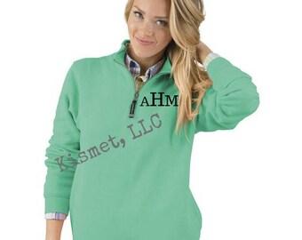 Premium Monogrammed Sweatshirt Personalized Sweatshirt Quarter Zip Plus Size