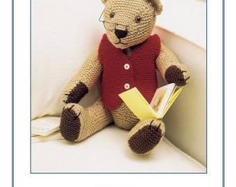 Sandra Polley Knits and Pieces Teddy Knitting Patterns : Robert/Annie and George/Bertie/Jim and William Bears