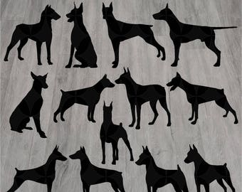 13 doberman svg dog svg svg silhouette svg dog svg files