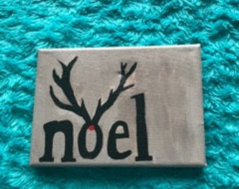 """Small Canvas Painting """"Noel"""""""