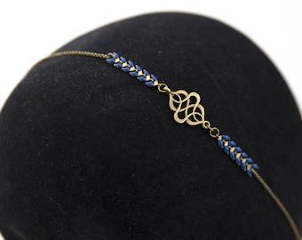 Vintage blue glazed rafters #1424 headband headband