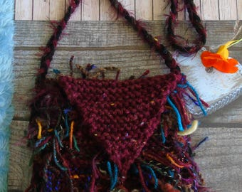 PARADISE bag, hand-knitted cuddly shoulder bag