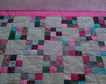 Pink and Green Quilt