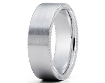 Men's Wedding Band Gold Wedding Ring Unique Wedding Band Men & Women Gold Wedding Ring Anniversary Ring Comfort Fit