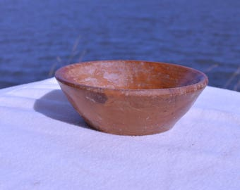 Small Rustic reclaimed, hand turned wooden bowl