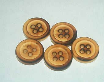 Set of 5 buttons have 4 holes 18mm